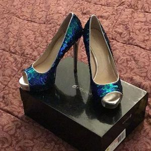 NIB Sequin Stiletto Heels